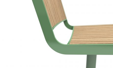 Vestre Berlin chair detail RAL 6021